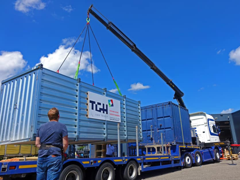 TGH van Triest opslagcontainers